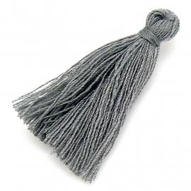 kwastje satijn lengte circa 30mm kleur dark grey (KW-30-003)