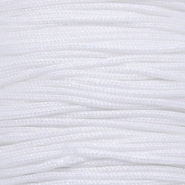 mousetailkoord 0,7mm (dun satijnkoord) - kleur wit nr.017 - 5 meter (BMT-04)