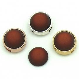 polariscabochon 11,8 mm - kleur Cognac (CAB-12-014)