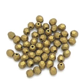 FPB 4mm col. K0172JT - 50 kralen kleur Aztec Gold Matte Metalic