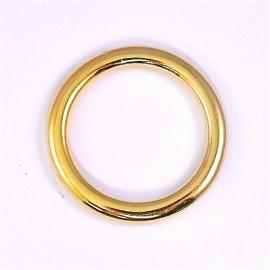 DQ metaal GOUD ring binnenmaat 25mm, buitenmaat 33mm (B05-016-SG)