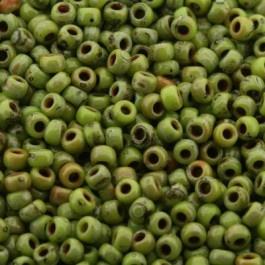 MR8-4515 Miyuki Rocailles 8/0 - 10 gram - kleur opaque picasso chartreuse
