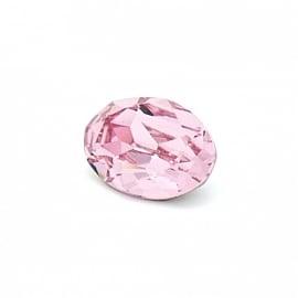 swarovski ovaal 4120 (maat 10x14mm) kleur light rose (BSOV-007)