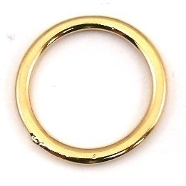DQ metaal GOUD gesloten ring 19mm - binnenmaat 15mm (B05-021-SG)