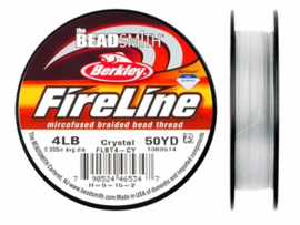 Fireline 4 LB (0,15mm) 50 yards (45m) kleur Crystal 4LB