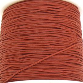 mousetailkoord 0,7mm (dun satijnkoord) - kleur zadelbruin - 5 meter (BMT-....)