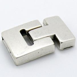 DQ metaal magneetsluiting T-shape maat 23x37mm gat 3x20mm (B07-072-AS)