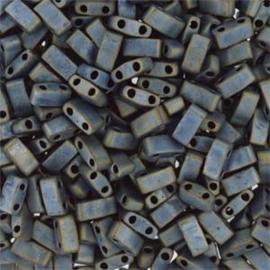 HTL-2002 Miyuki Half Tila 5x2,3mm - 5 gram - kleur matte metalic silver grey