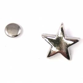 stud ster 15x15mm (B09-001-AS) - 5 stuks