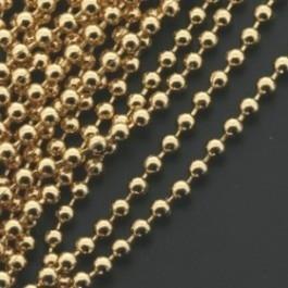 ballchain GOUD 2mm - lengte 1m (AB66782)