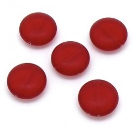 kraal plat rond 7,5x19mm rood (BJR013)