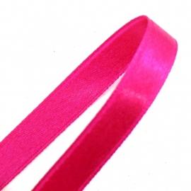 satijnlint 4mm breed 1m lang kleur fuchsia