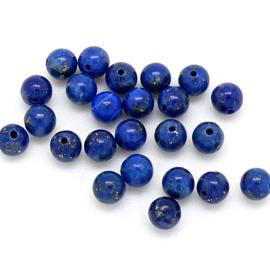 natuursteen kralen - Lapis Lazuli- rond 4mm (10 stuks) (BJ4-008)