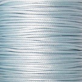 waxkoord 1mm 10 meter kleur lichtblauw