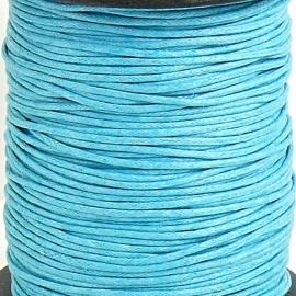 waxkoord 1mm 1 meter kleur turquoise