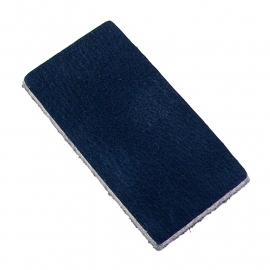 DQ leather gestanste rechthoek 30x60mm - dik 4,5mm kleur buffel navy (ST-RH-004)