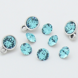 swarovski puntsteen SS24 5,3mm crystal light turquoise