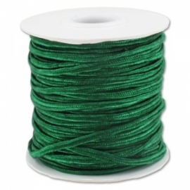 Soutache braid 3mm - color emerald - lengte 1m (BRF-243)