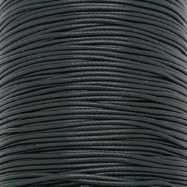 waxkoord 1,5mm - 5 meter kleur zwart
