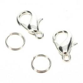 cartierslot spl zilverkleur 13mm - exclusief dubbelring - (AB-AC-902-F)