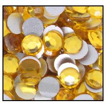 Swarovski platte steen SS16 - kleur Topaz