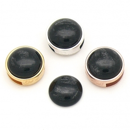 polariscabochon pearl 12mm - kleur Black (CAB-12-026)