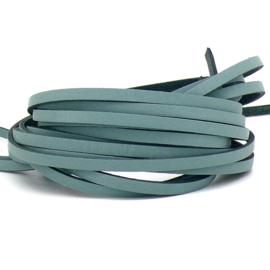 DQ leren band smal 5mm - 2,1 dik circa 100cm lang - kleur trend Provence Blue (PL05-038)