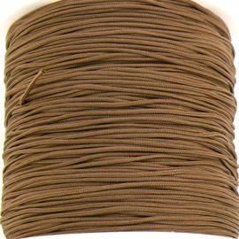 mousetailkoord 0,7mm (dun satijnkoord) - kleur camel - 5 meter (BMT-....)