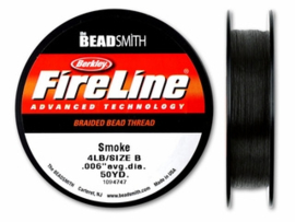 Fireline 4 LB (0,15mm) 50 yards (45m) kleur Smoke 4LB
