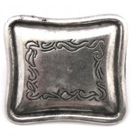 10-0101  concho met pin rechthoek 28x32mm