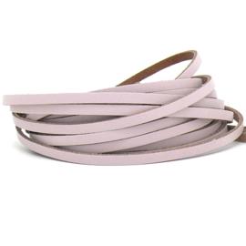 DQ leren band smal 5mm - 2,2 dik circa 100cm lang - kleur trend Paloma(PL05-040)