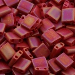 TL5-0408FR Miyuki Tila 5x5mm - 5 gram - kleur mat red opaque AB
