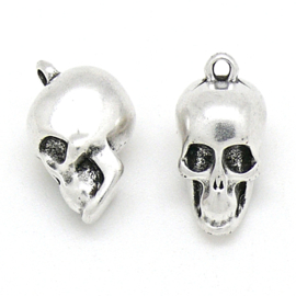DQ metaal bedel skull maat 11x17mm (B02-192-AS)