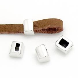 DQ metaal luscomponent voor 5mm plat leer maat 8x9mm (B05-047-AS)