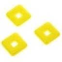glaskraal vierkant geel 12x12mm (AB1338-10)