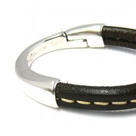 DQ metaal magneetsluiting halve armband voor REGALIZ leer gat 7x10mm (B08-006-AS)
