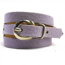 leren gesparmband 59 cm lang 1 cm breed (instelbaar) kleur lila