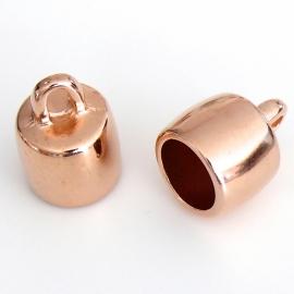 DQ metaal ROSEGOUD eindkap gat rond 10 mm (B06-002-RG)