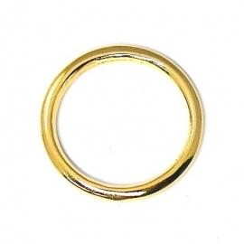 DQ metaal GOUD ring binnenmaat 18mm, buitenmaat 22mm (B05-015-SG)