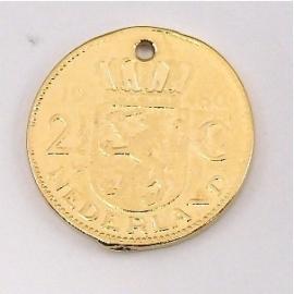 DQ metaal GOUD bedel munt rijksdaalder 27mm (M6850)