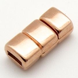 DQ metaal ROSEGOUD magneetsluiting voor 5mm plat leer (B07-043-RG)