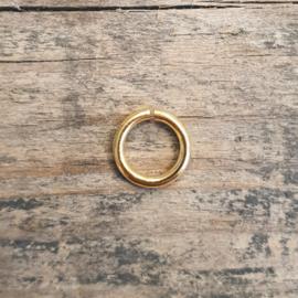 DQ metaal GOUD open ring 4,5mm 1mm dik - 50 stuks (B05-004-SG)