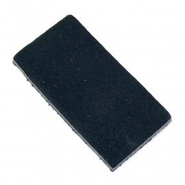 DQ leather gestanste rechthoek 30x60mm - dik 4,5mm kleur buffel black (ST-RH-001)