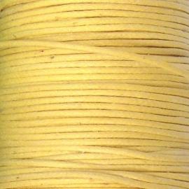 waxkoord 1mm 1 meter kleur geel