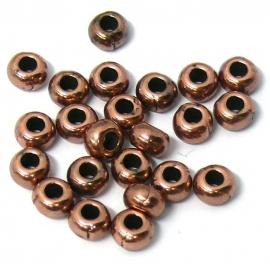 DQ metaal kraal 3x5mm (4205089 koper)