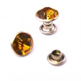 stud crystal 7mm kleur topaz (no. 410) - 10 stuks