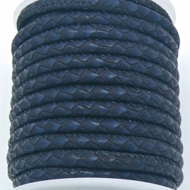 DQ cross stitched leather Best Quality size 4mm - color dark blue reptile - 20cm (BRCSL-04-04)