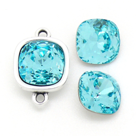 swarovski vierkante steen 4470 - 10mm - crystal light turquoise (BSSQ-015)