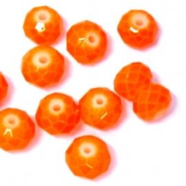 glaskraal rond facet 6x8mm oranje  (SD12553)