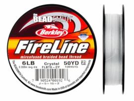 Fireline 6 LB (0,20mm) 50 yards (45m) kleur Crystal 6LB